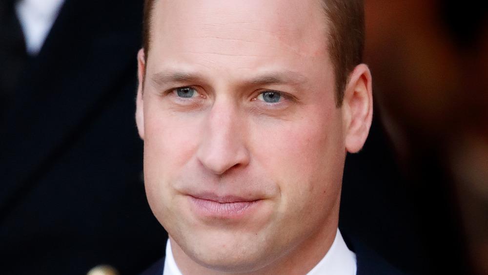 Prince William staring