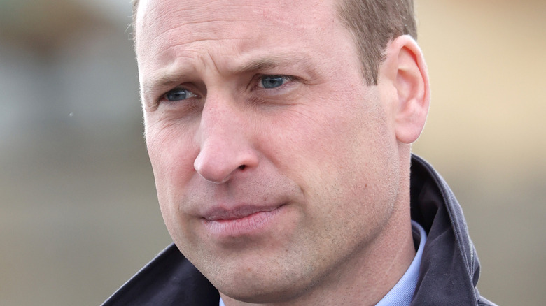 Prince William, looking concerned, 2021 event photo