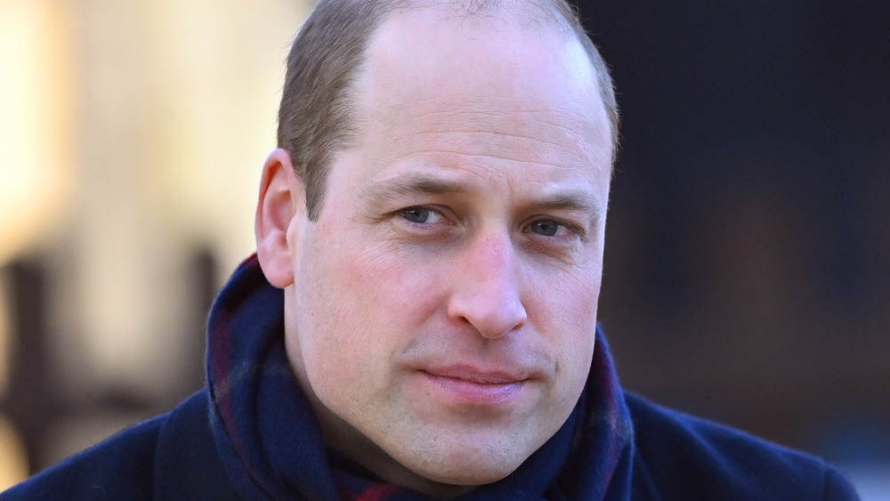 Prince William dressed in a scarf