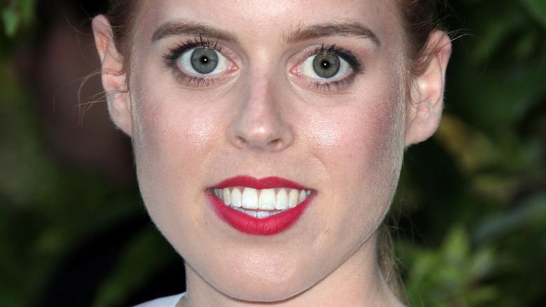 Princess Beatrice red lips