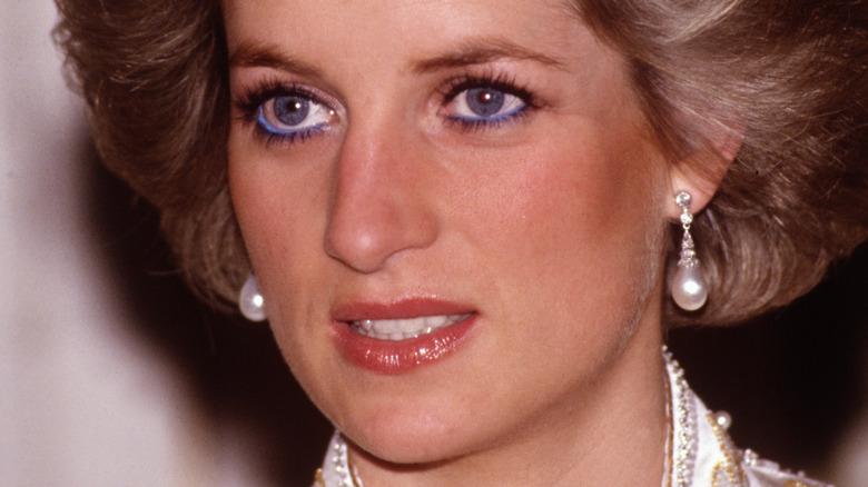 Princess Diana blue eyeliner