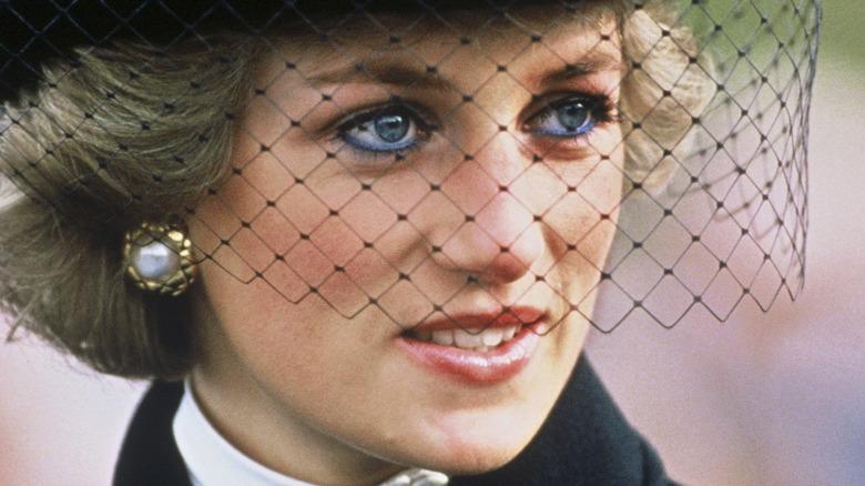 Princess Diana black veil