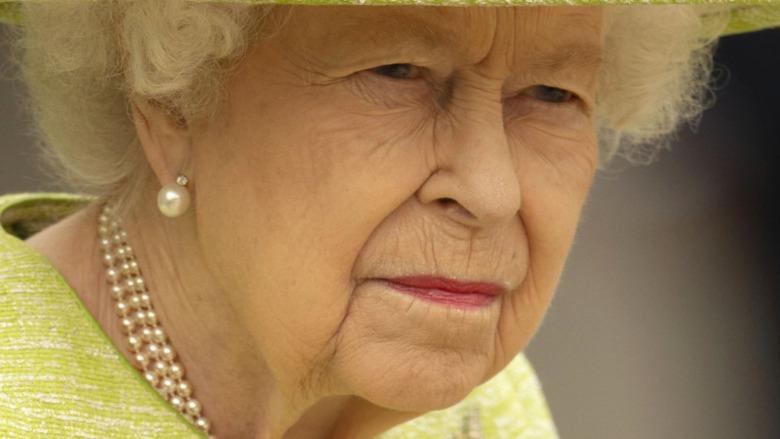 Queen Elizabeth II serious