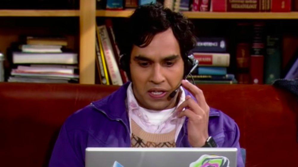 Raj on Big Bang Theory