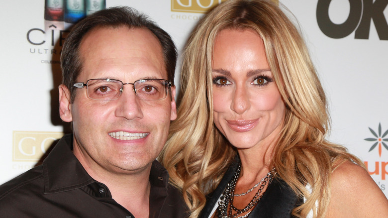 TV personalities Russell Armstrong (L) and Taylor Armstrong attend Ciroc Vodka, OK! Magazine & Step Up Women's Network Women of Music Celebration