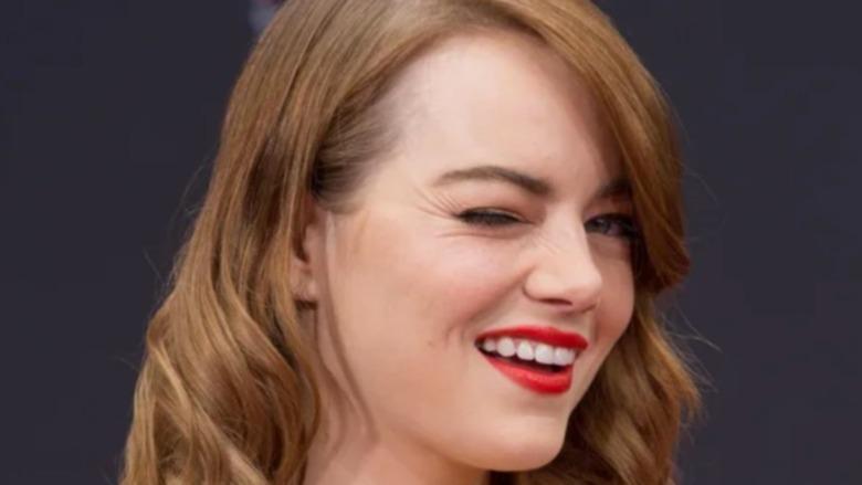 Emma Stone winking