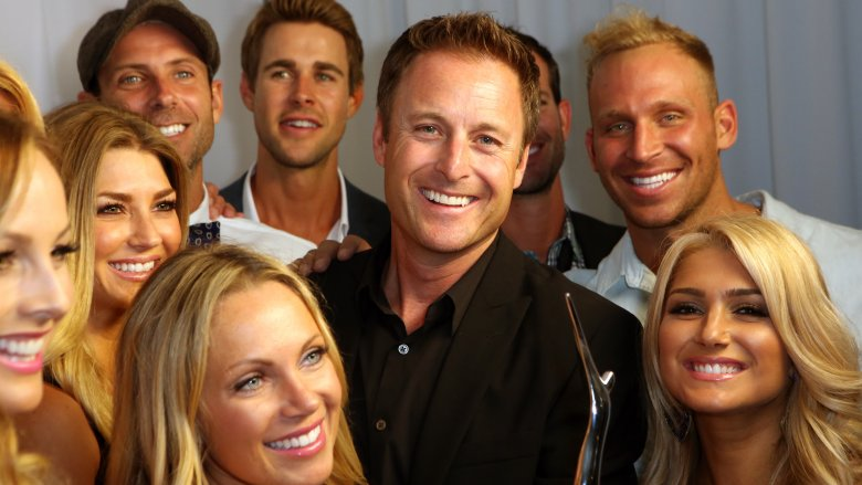 Chris Harrison with cast members