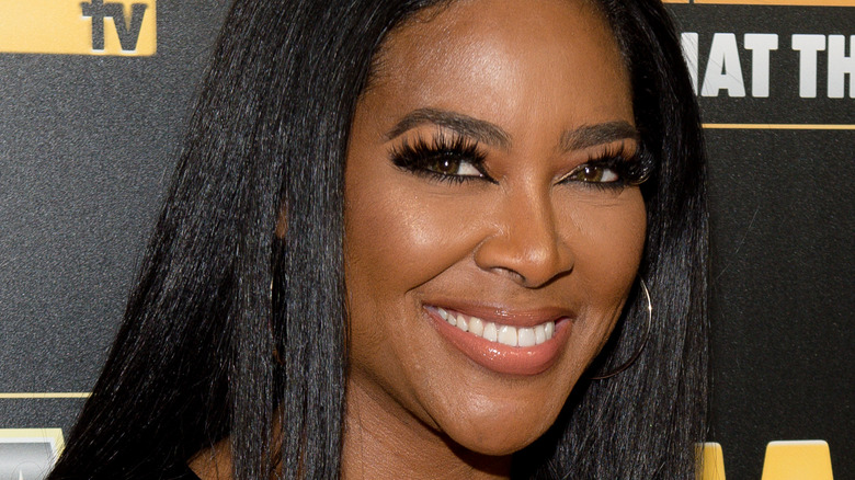 Kenya Moore at a red carpet event