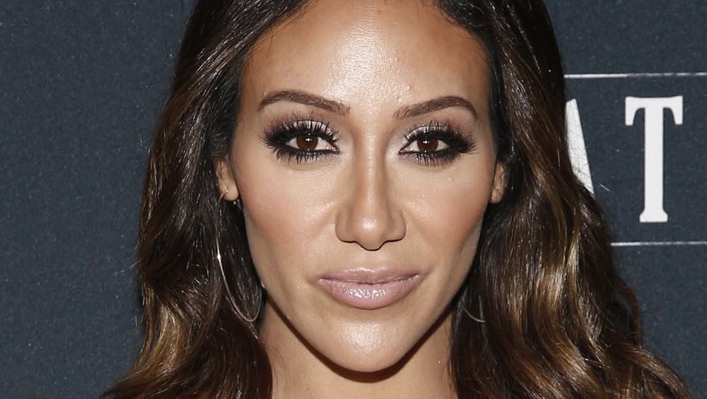 Melissa Gorga with a slight smile on the red carpet