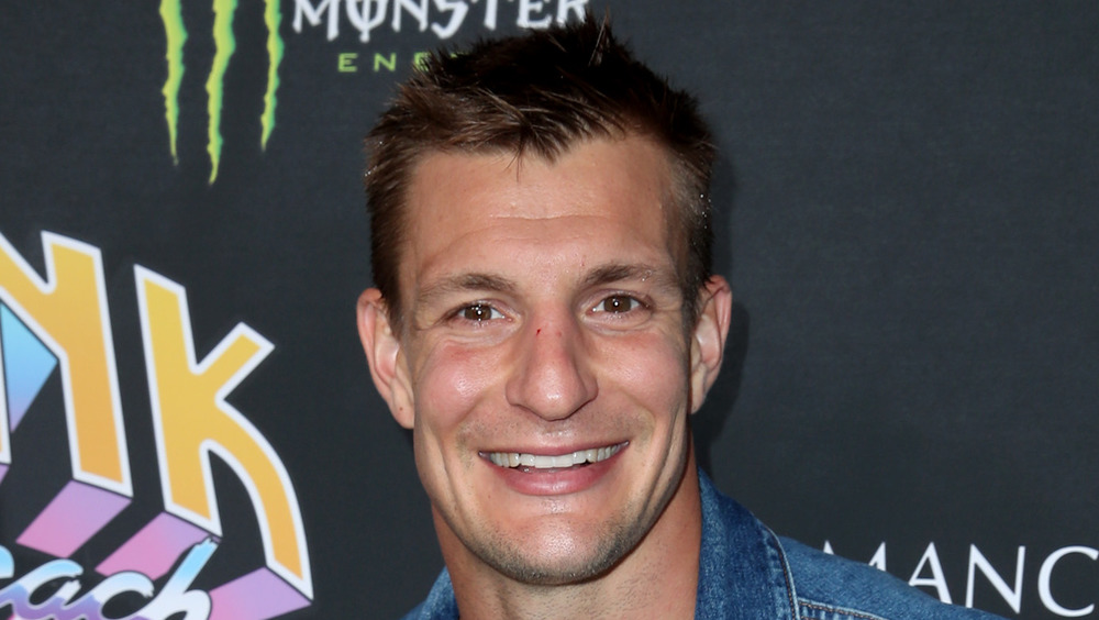 Rob Gronkowski at a press conference
