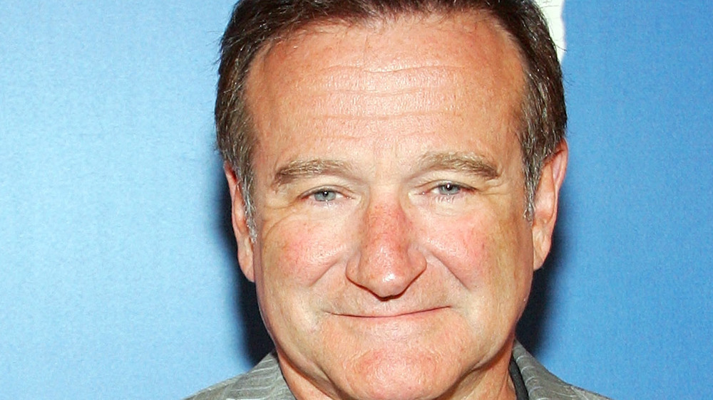Robin Williams on a red carpet