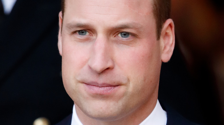 Prince William serious expression