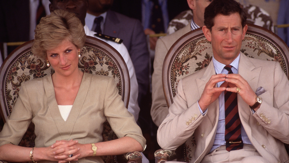 Princess Diana and Prince Charles during the Royal Tour of Cameroon