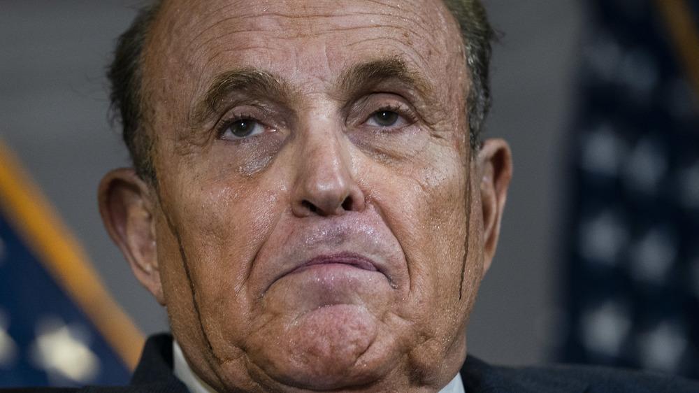Rudy Giuliani at a press conference
