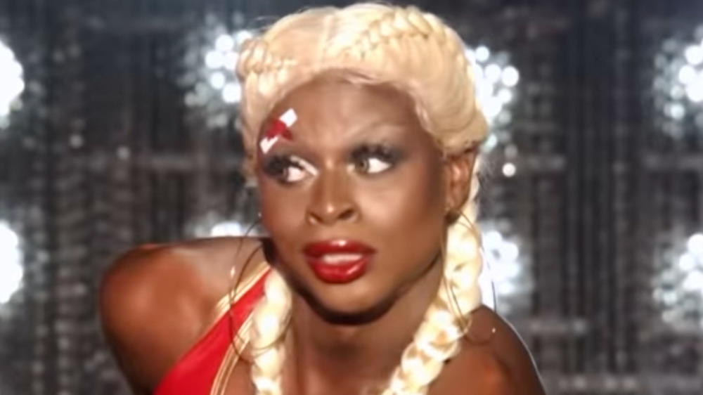 Symone from RuPaul's Drag Race staring out