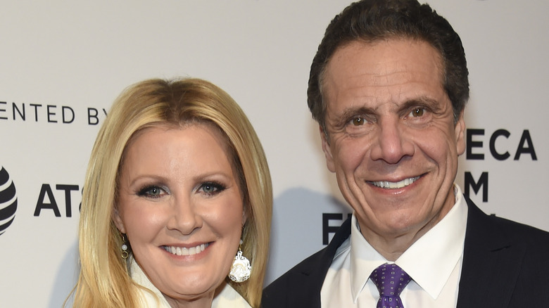 Sandra Lee and Andrew Cuomo smiling at event