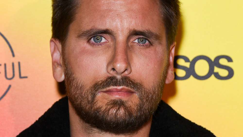 Scott Disick looking serious on the red carpet