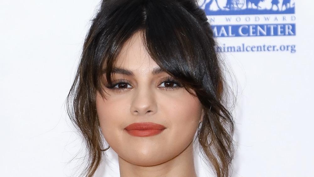 Selena Gomez posing on the red carpet