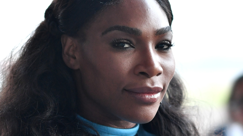 Serena Williams smiling for the camera