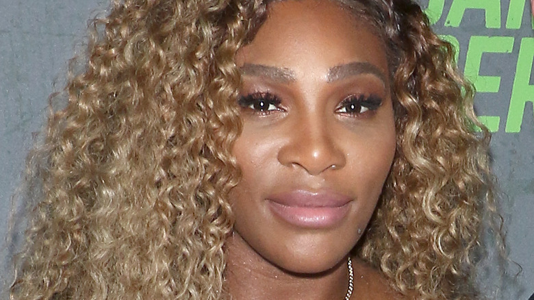 Serena Williams posing at an event