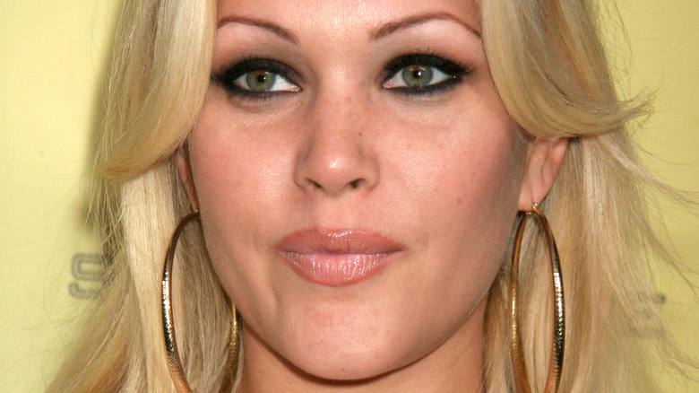 Shanna Moakler with a neutral expression