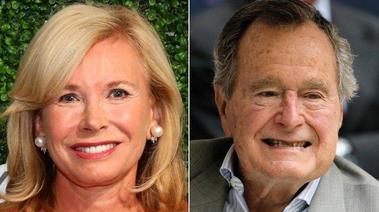 Sharon Bush and George H.W. Bush