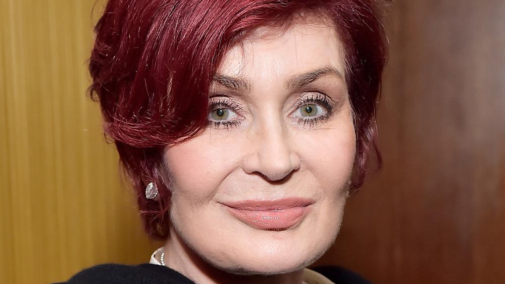 Sharon Osbourne staring