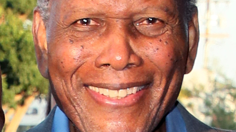 Sidney Poitier smiling in 2017