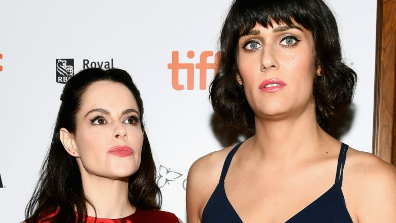 Teddy Geiger and Emily Hampshire