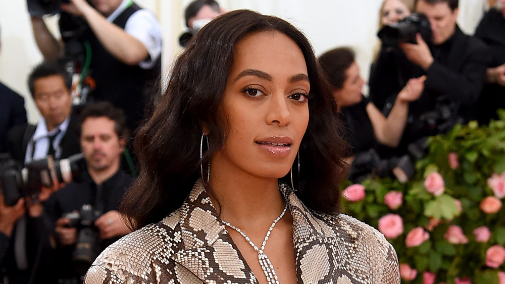 Solange Knowles on the red carpet