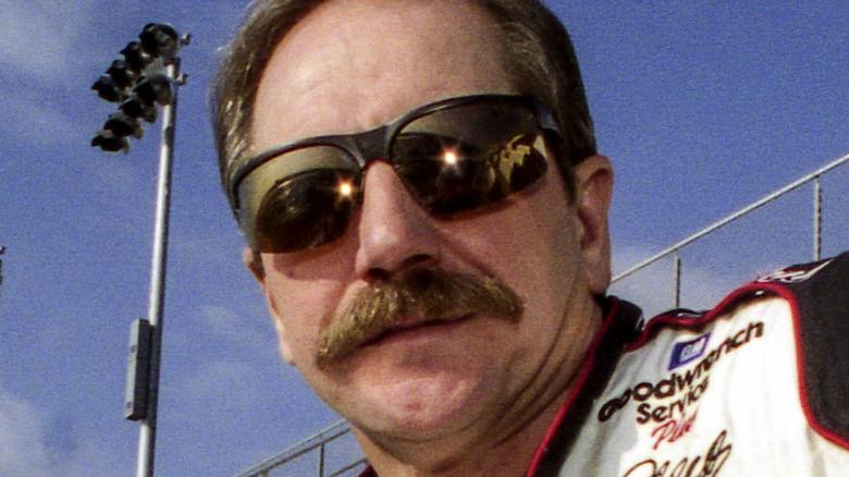 Dale Earnhardt Sr. at the track
