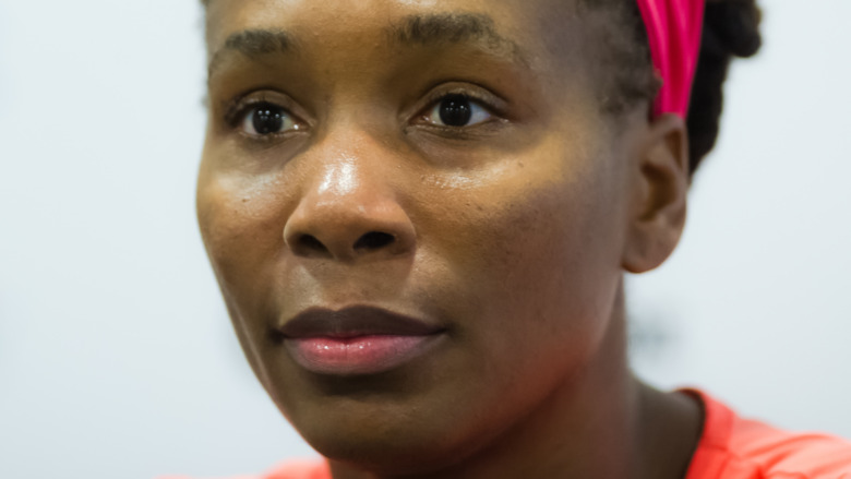 Venus Williams with a serious expression