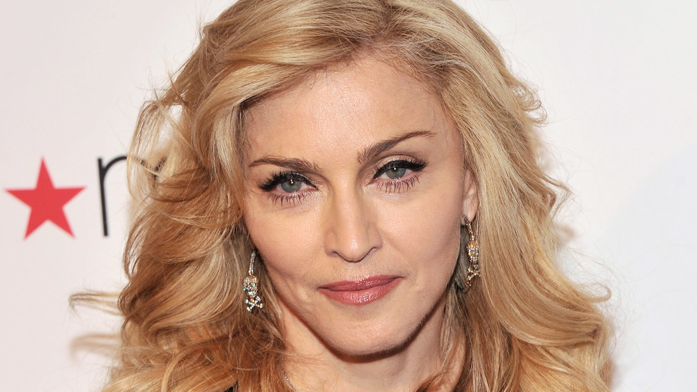 Madonna looking at camera