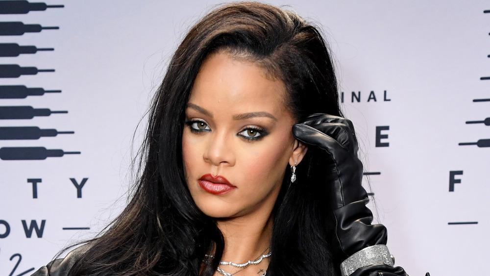 Rihanna at a Savage X Fenty show in 2020