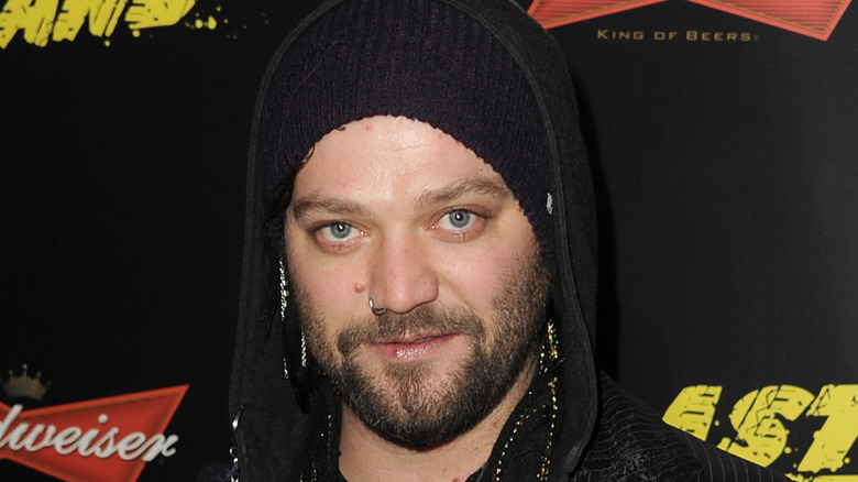 Bam Margera with black knit hat