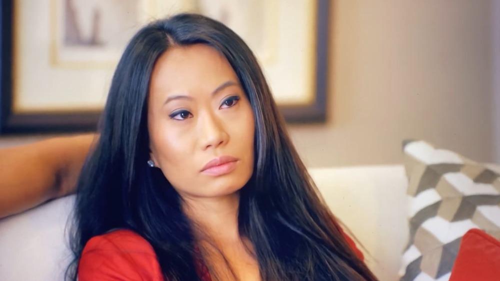 Kelly Mi Li looking serious on Bling Empire