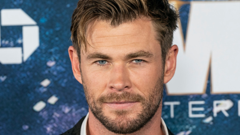 Chris Hemsworth looking at camera