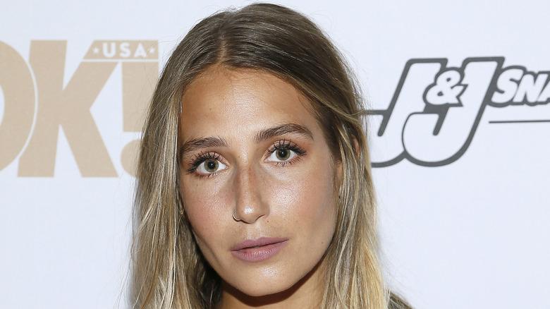 Amanda Batula looking confused and staring at camera