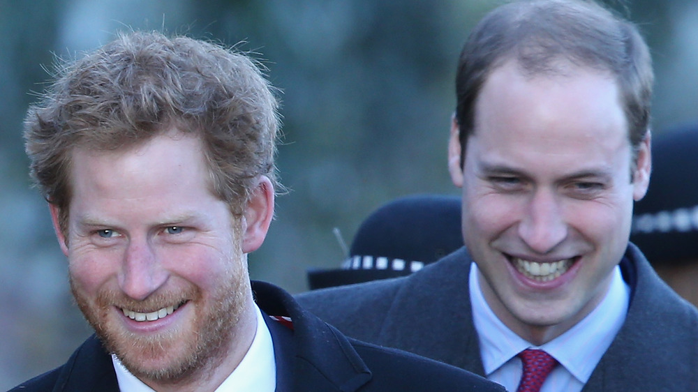 Prince Harry and Prince William laughing
