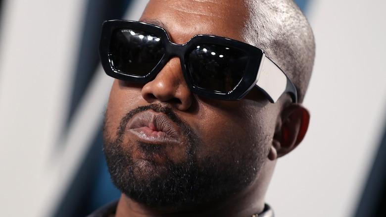 Kanye West wearing sunglasses