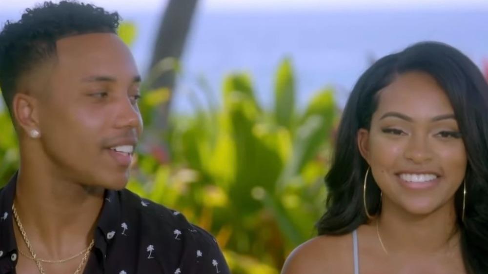 Kendal Kirkland and Erica Washington filming Temptation Island
