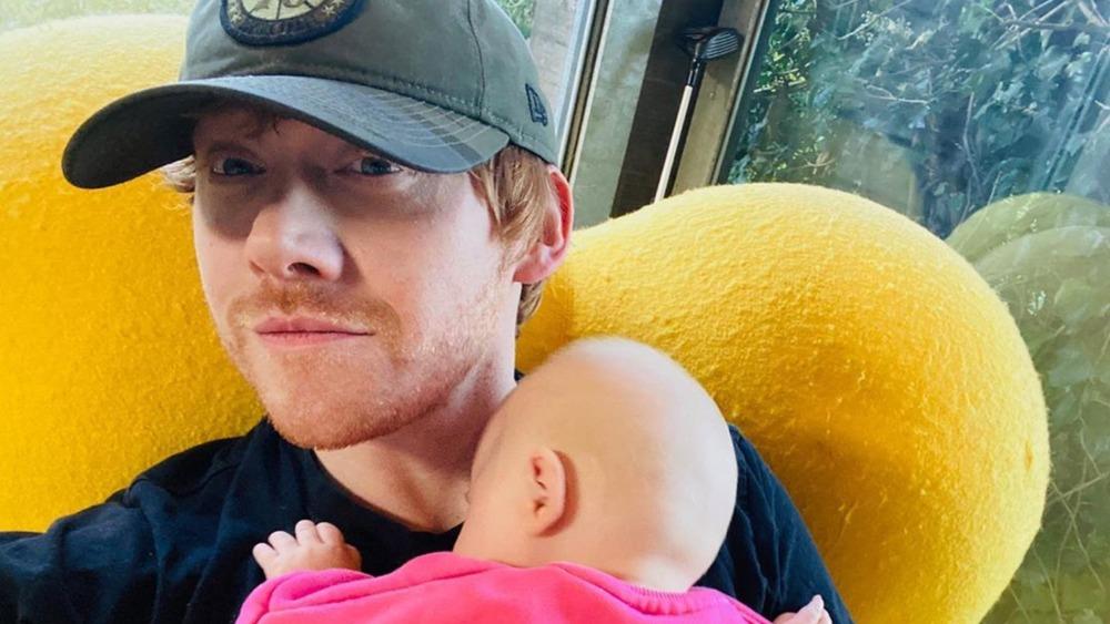 Rupert Grint selfie with daughter Wednesday