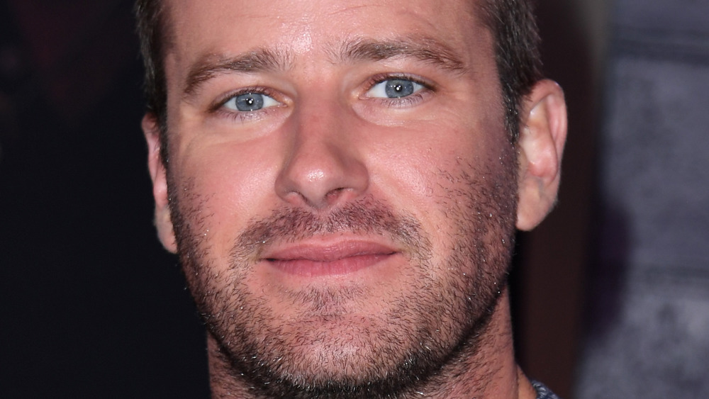Armie Hammer smirks at a photo call