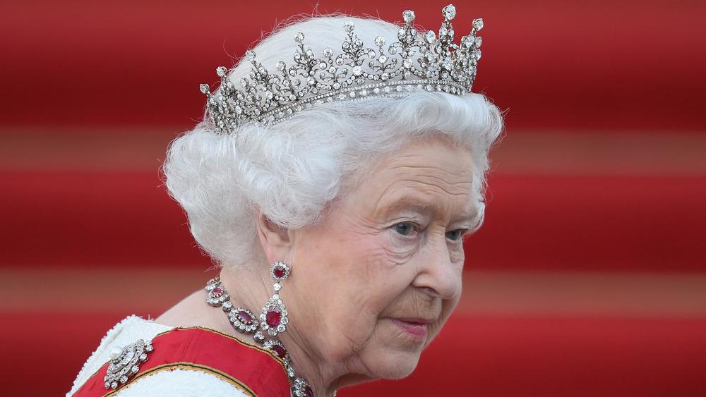 Queen Elizabeth in a tiara