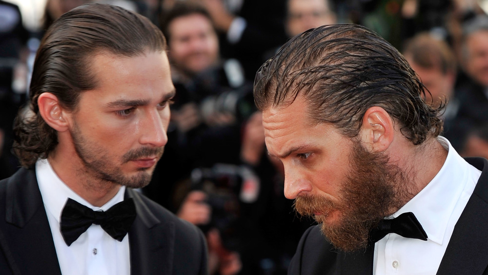 Tom Hardy and Shia LaBeouf attend the Lawless premiere