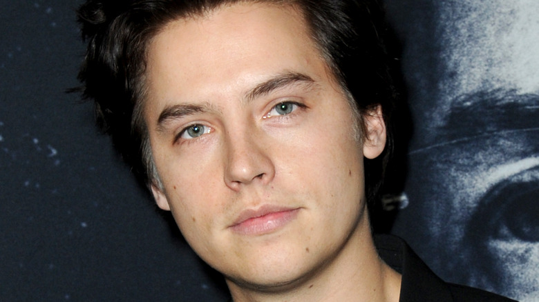 Cole Sprouse looking at camera