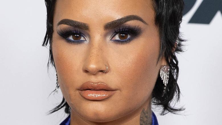 Demi Lovato gazing in front