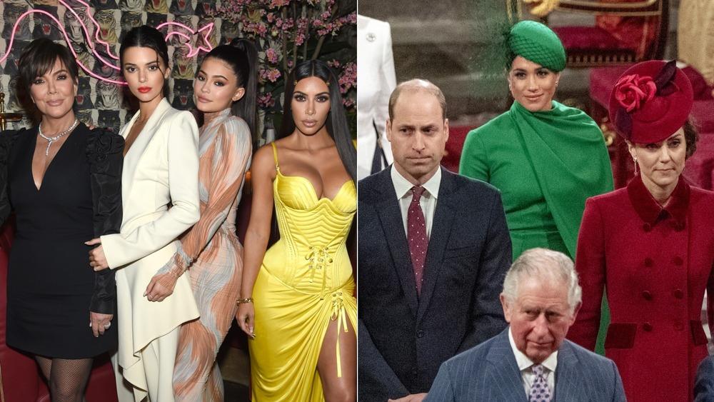 The Kardashians and the royal family