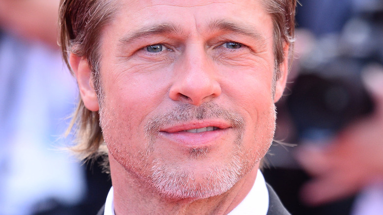 Brad Pitt in tuxedo at movie premiere