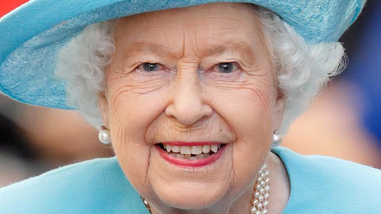 Queen Elizabeth walking at event